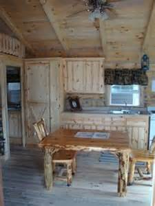 Pics Inside 14x32 House Amish Made Cabin And Furniture Looks Like My Table And Chairs