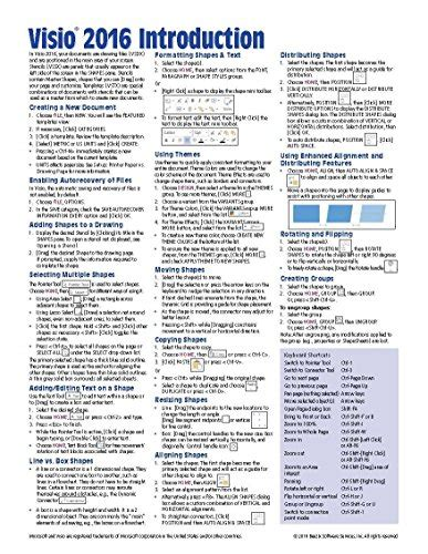 visio keyboard shortcuts microsoft visio 2016 introduction reference guide