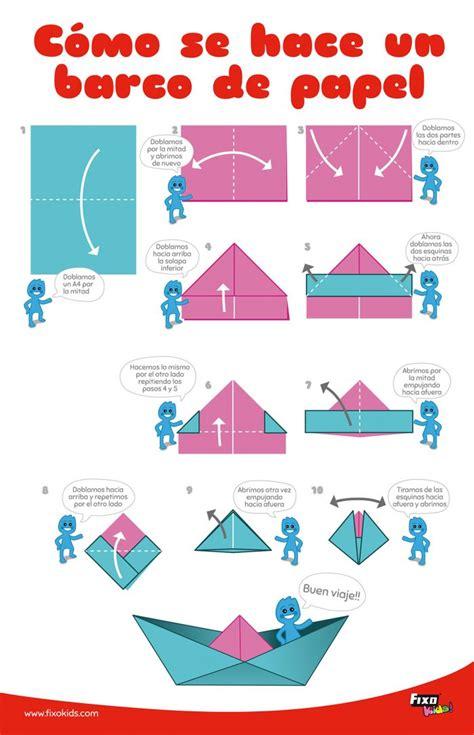 como hacer un barco origami c 243 mo hacer un barco de papel de manera f 225 cil fixokids