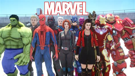 all marvel all marvel superheroes in grand theft auto