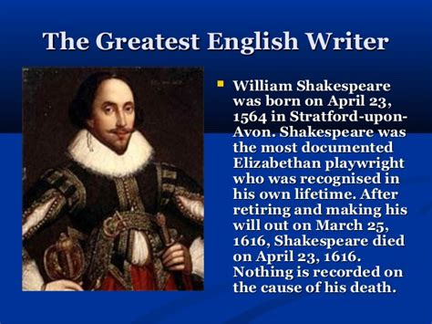 biography in english william shakespeare