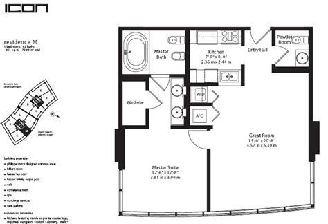 Icon Condo Floor Plan by Icon Miami South Condo One Sotheby S International