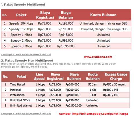 Paket Wifi Speedy Unlimited tarif harga paket speedy terbaru true broadband