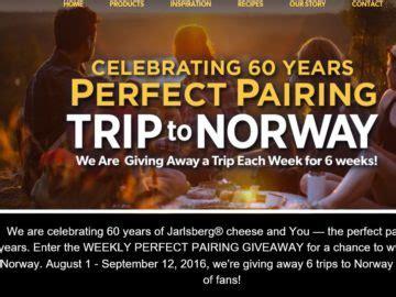 Consumer Sweepstakes - jarlsberg cheese 60th anniversary consumer sweepstakes
