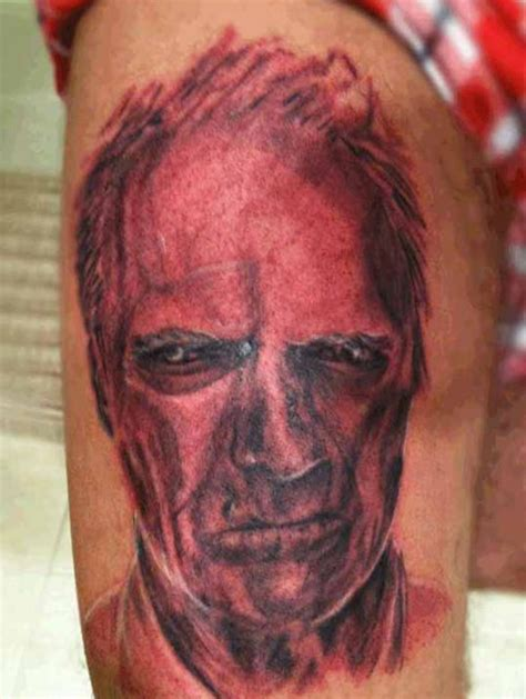 clint eastwood tattoo bad tattoos 13 more of the worst shakers team