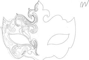 masquerade mask pattern 171 design patterns