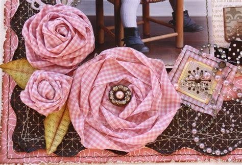 scrapbook flowers tutorial such a pretty mess twisted fabric blooms tutorial