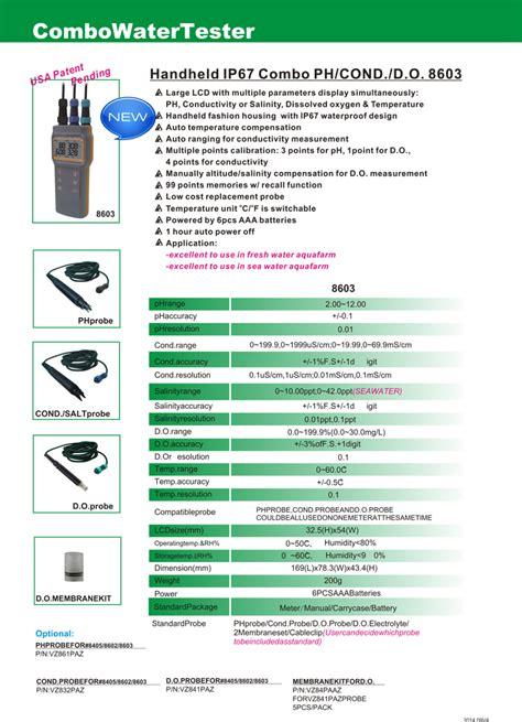 Az 8603 Handheld Ip67 Combo Phconddo az8603 handheld water quality tester multuple function ph conductivity meter buy ph meter