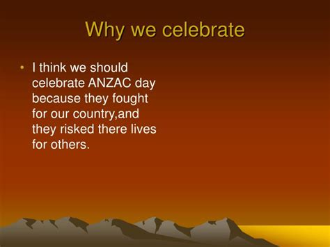 why celebrate ppt anzac powerpoint presentation id 5336039