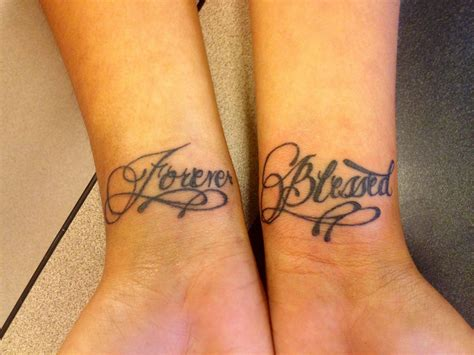 blessed wrist tattoos my daughters wrist forever blessed tattoos