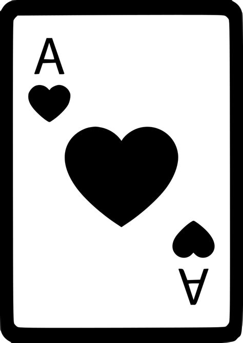 ace  hearts card poker svg png icon    onlinewebfontscom
