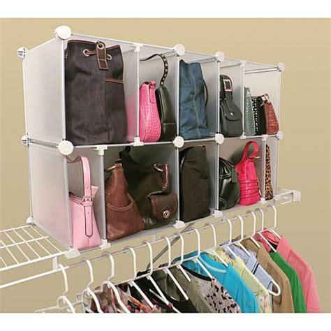 hsn closet organizer luxury living 10 cubby adjustable park a purse organizer