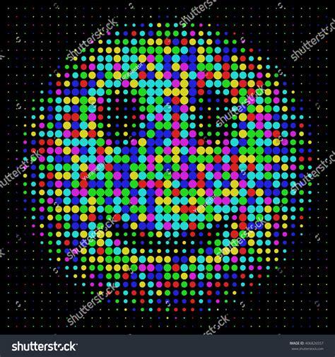 Sticker Beat Pop Pixel Black color smiley halftone dots style stock vector 406826557