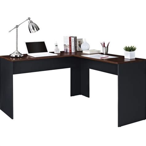 Altra The Works L Shaped Desk by L Shaped Desk In Cherry And Slate Gray 9843096