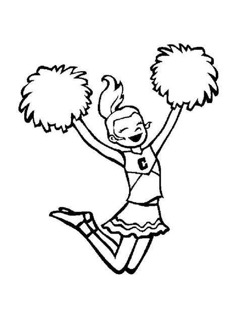barbie cheerleader coloring pages cheerleader coloring pages free printable cheerleader