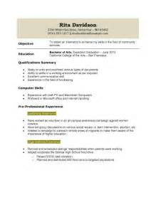 resume templates for graduate school resume for high school student with no work experience