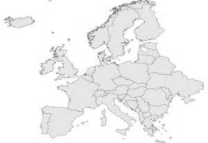 Map Of Europe Without Names by Europe Map Without Country Names