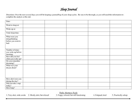 18 best images of sleep diary worksheet printable sleep