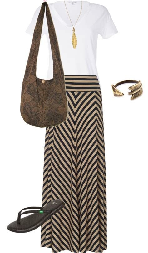 Womens Grace Lace Chevron Casual Sun Maxi Long Dress 0 4   quot summer casual chic quot polyvore dress for success