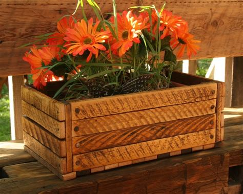 Wooden Crate Planter by Reclaimed Wood Crate Eclectic Indoor Pots And