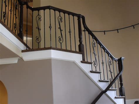 Rod Iron Balusters Pitch Shoe Top Portland Stair Company