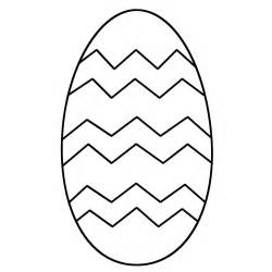 Easter Egg With Patterns  Coloring Page sketch template