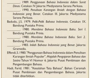 penulisan daftar pustaka bahasa indonesia cara membuat daftar pustaka sesuai aturan tata bahasa