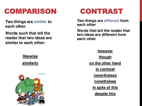 comparison and contrast ppt video online download
