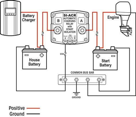diagram of a battery si acr automatic charging relay 12 24v dc 120a blue