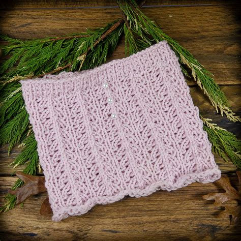 knit lace cowl pattern loom knit lace cowl neckwarmer pattern for a