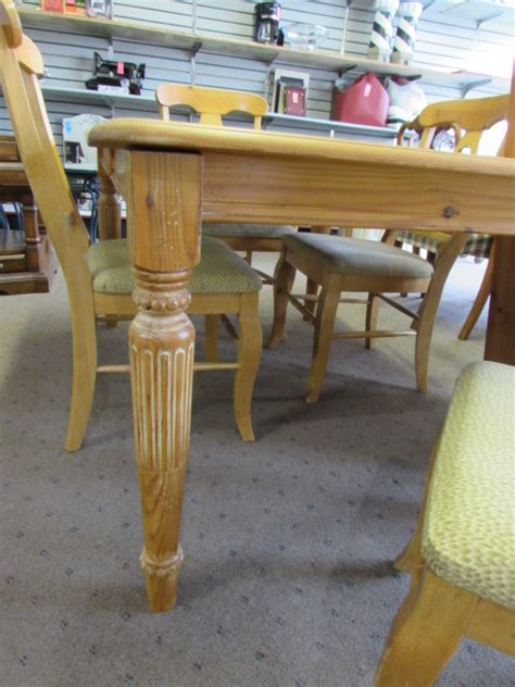 rustic pine dining table and chairs lot detail rustic pine dining table w 4 chairs