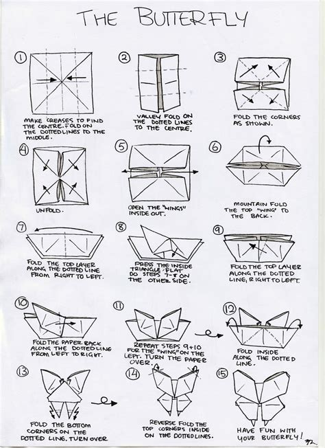 Butterfly Paper Folding - origami butterfly make it for a simple sweet souvenir