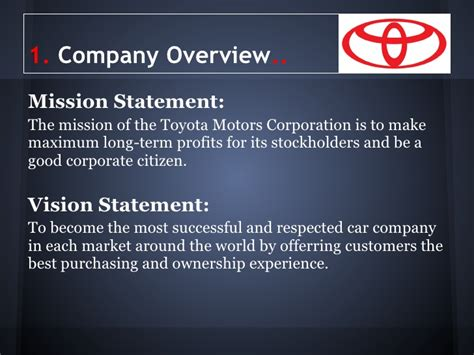 toyota overview of the company toyota