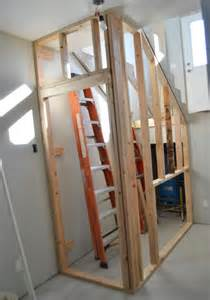 building a closet the stairs white woodworking