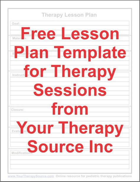 speech therapy lesson plan template free lesson plan template for ot pt slp ot ideas