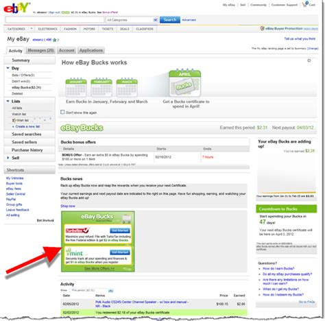 ebay new user offer intuit offers ebay bucks incentives for mint turbotax