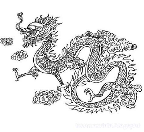 vietnamese dragon coloring page drachen mandala free free mandala download