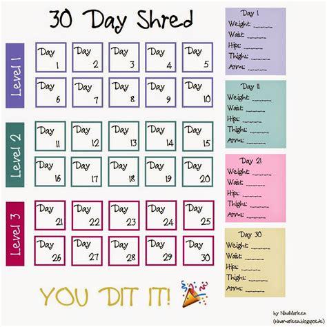 jillian michaels 30 day shred 30 day shred schedule jillian michaels www imgkid com
