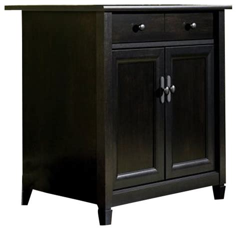 sauder storage black sauder edge water utility stand in estate black