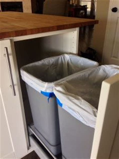 Kitchen Garbage Hacks 1000 Images About Trash Can Pull Out On