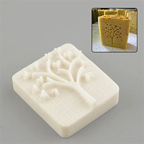 Handmade Soap Supplies - tree design handmade yellow resin soap st