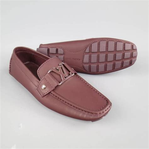 louis vuitton brown loafers s louis vuitton size 6 prune brown ruberized leather