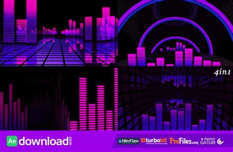 Vj Equalizer Videohive Free Download Free After Effects Template Videohive Projects After Effects Equalizer Template