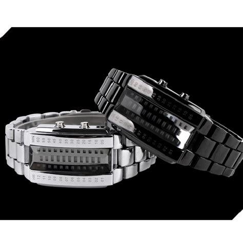 Jam Tangan Led Cowok skmei jam tangan led pria 1035a black jakartanotebook