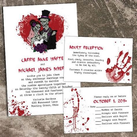 Printable Halloween Wedding Invitations | printable halloween wedding invitations ideas and inspiration