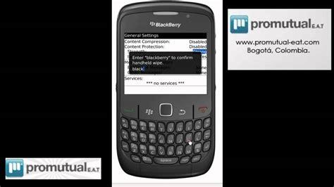 reset blackberry curve 8900 wipe como borrar o formatear la blackberry 8520 9000 8900