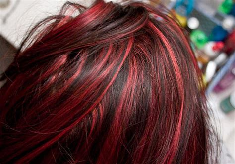 hairstyles dark hair red highlights 28 spicy black hair with red highlights for 2013 ideas