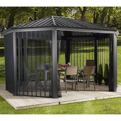 12 x 15 gazebo sojag komodo 15 ft w x 12 ft d metal permanent gazebo