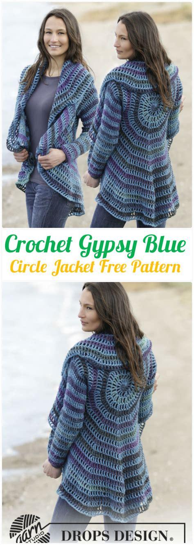 diy crochet circular vest sweater jacket  patterns