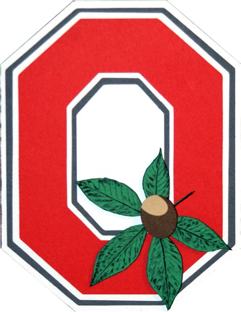 Ohio State Block O Outline by Wennie In Ohio State Buckeye Card